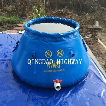 PVC stand by itself onion shape fire fighting water tank