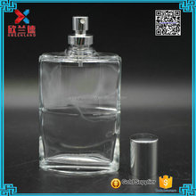 New product 100ml flat glass bottle/decorative cosmetic perfume bottle