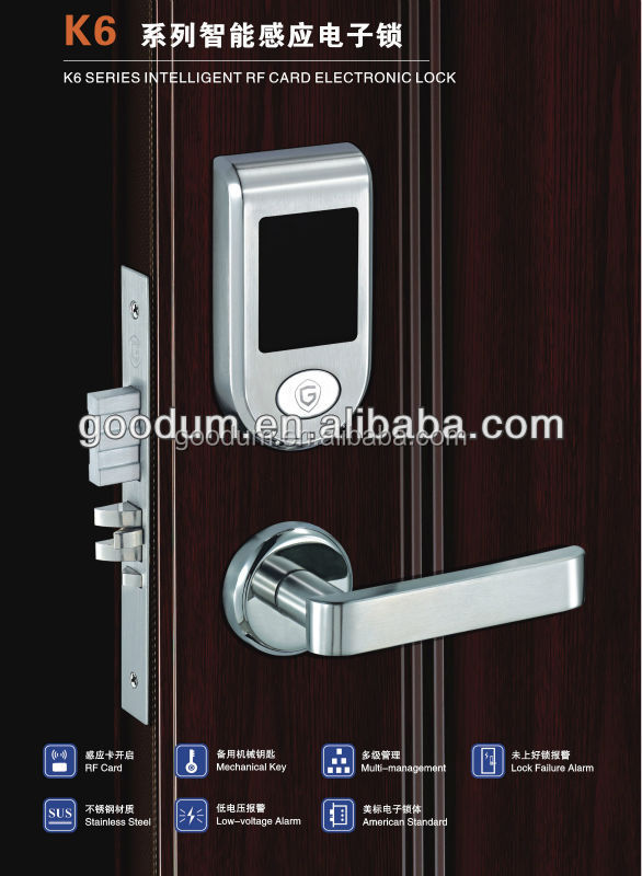 Electronic Rfid card hotel lock with software