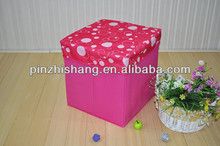 Canvas Foldable Storage stool/storage box/storage ottoman