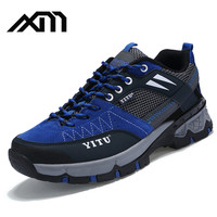 2017 new hot sale fashion design Waterproof breathable outdoor shoes mountaineering shoes for men hiker shoes for lovers