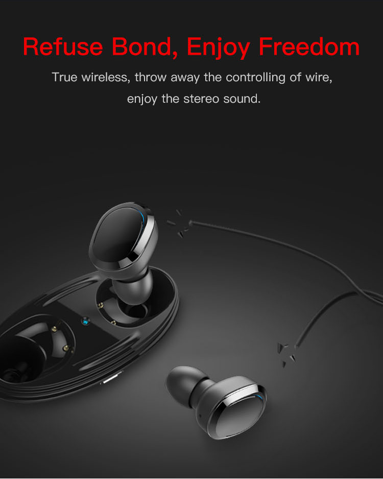 Trending 2019 Bluetooth 5.0 Wireless Bluetooth Headphones Electronics Mobile Accessories TWS Earbuds Bluetooth Earphone