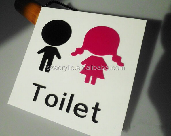 acrylic toilet signs wholesale