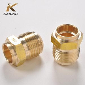 brass ferrule fittings male threaded coupling for refrigeration