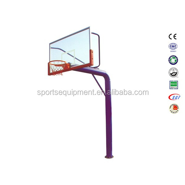 hight quality basketball hoops certificate tempered glass basketball stand basketball base