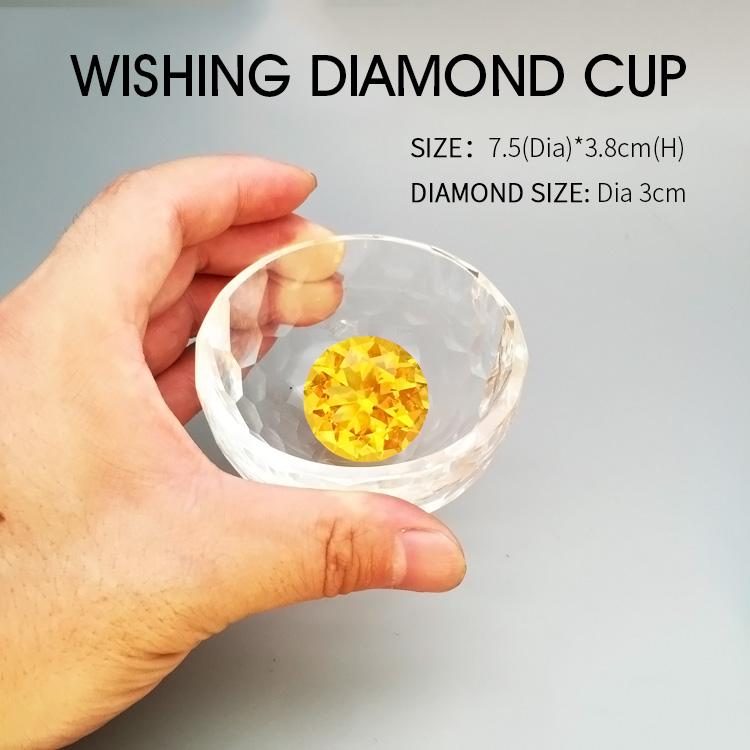 Top k9 Crystal glass Diamond Wishing Cup / Treasure Bowl Cornucopia / Fortune Cup for Home decoration Wedding Souvenir gift