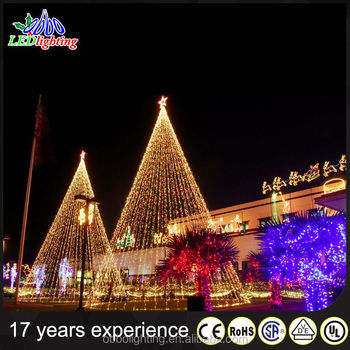 China Supplier 3-5m Giant Christmas Tree Decorative Light With Top ...