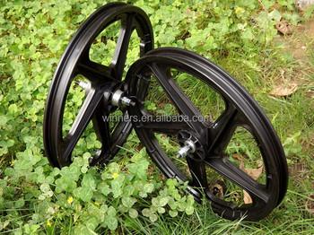 5 Spoke 20 Inch Plastic Wheel Garden Cart Wheel Bike Trailer Wheel