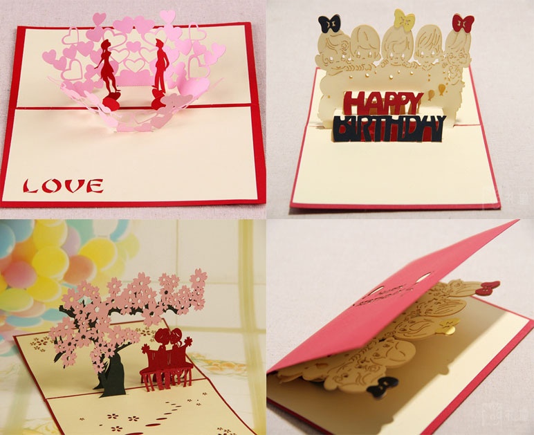 Wedding Invitation Card Paper: 2 PCS/Packs China Style Birthday Greeting Card/wedding