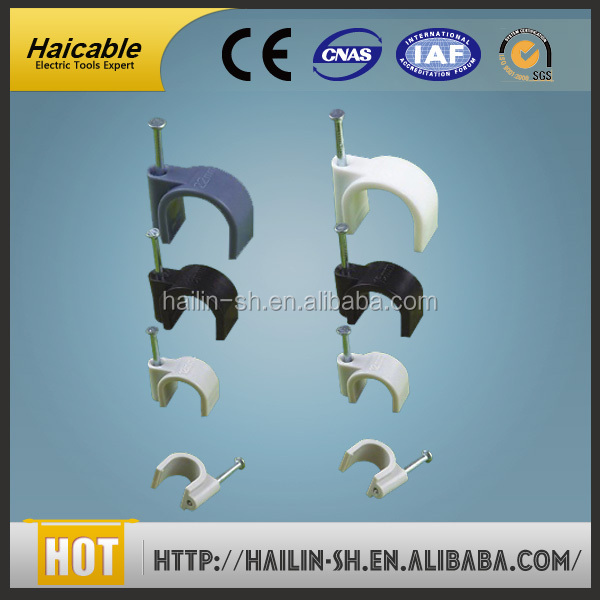 Circle retaining clip PE stationary fixure clamp