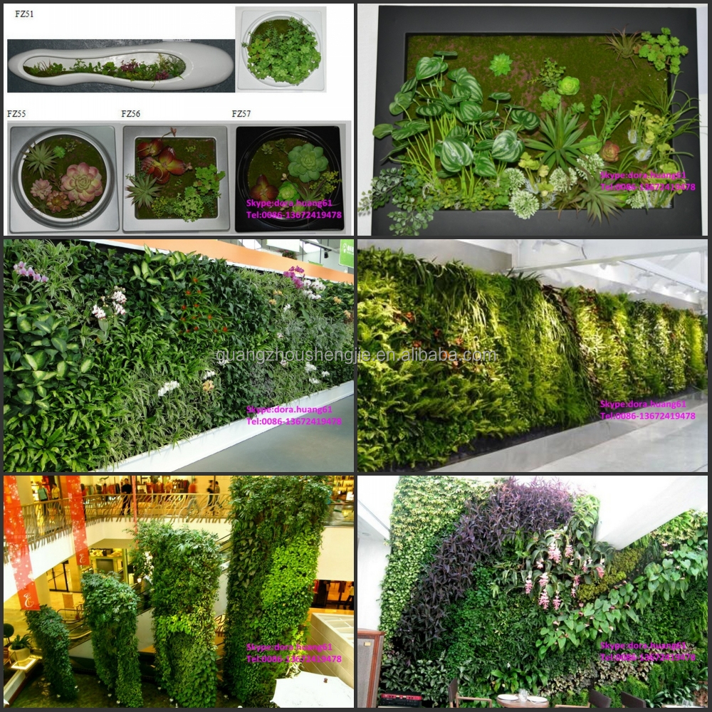 Ornamental garden walls - Sjh031828 Making Plant Artificial Walls Plastic Green Wall Decorative Grass Wall For Sale
