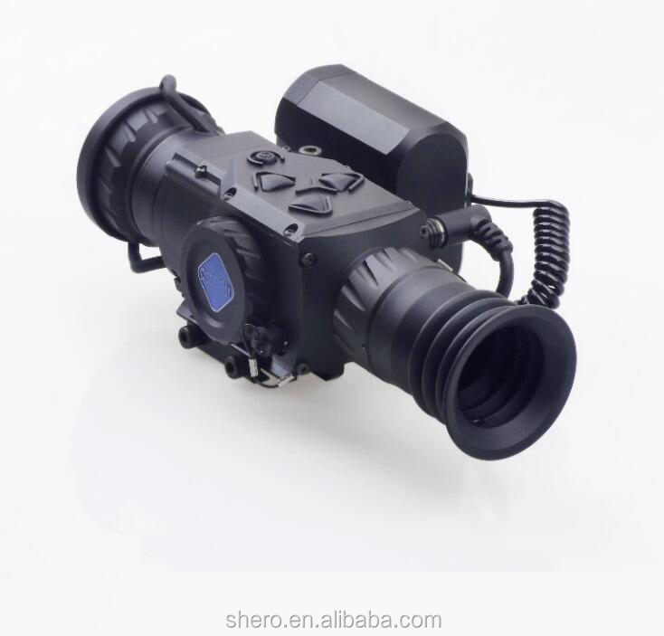 17um polysilicon detector IP67 60HZ 55mk airsoft rifle hunting night vision thermal scope for military