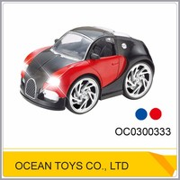 Wholesale 1:28 light metal 4ch rc voice control car toy with manual