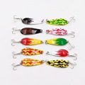 10pc Fishing Bait High Quality Spoon Lures 4cm 6g with 8 Hooks Fishing Lures Laser Film