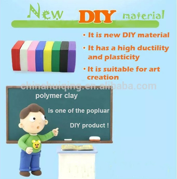 DMO Yiwu Bobao toy factory supply EN71safe 50g kids Oven Bake clay, starter & craftsman artists thermal modeling polymer clay