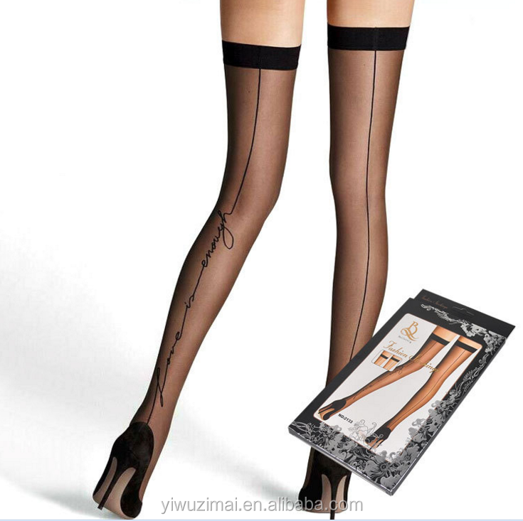 355f696a1d1 Beileisi Women s Sheer Back Seamed Transparent Sexy Stockings - Buy ...