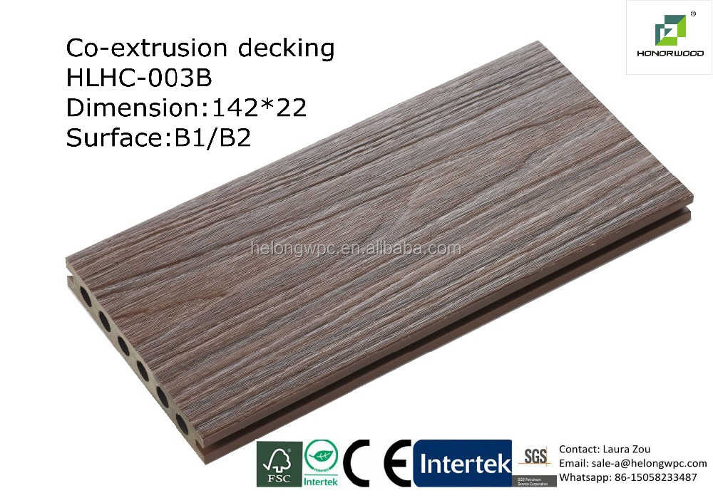 2016 Honorwood New Surface Effecct Co Extrusion Decking Wpc