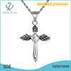 High quality stainless steel necklace large punk cross pendant for male
