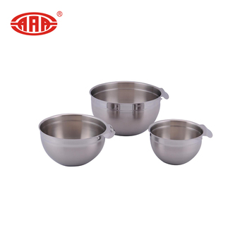 Hot sale stainless steel salad mixing bowl with handle