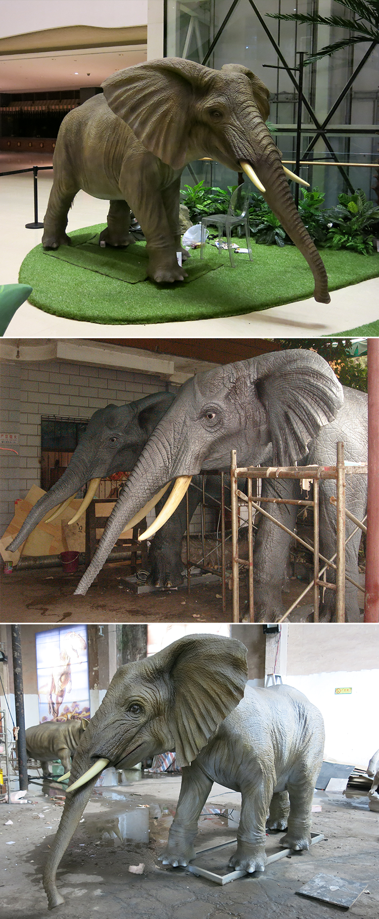 KANO-053 Jungle Lifelike Animatronic Elephant