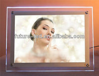 Hanging Acrylic Crystal Light Box LED Photo Frame A0