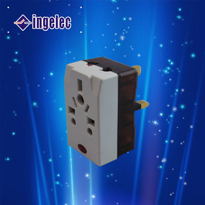 ELECTRICAL adapter with European/U.K plug and switch ,travel adapter
