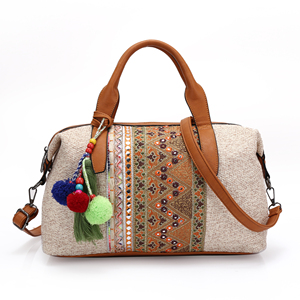2019 Leather dropshipping Bag PU handle Ethnic Women New Model Ladies Hand  bags e4454bd089040