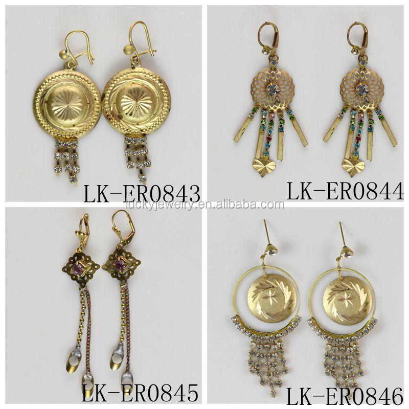 Fashion Design Hanging Earrings Gold Earrings Designs For Girls ...