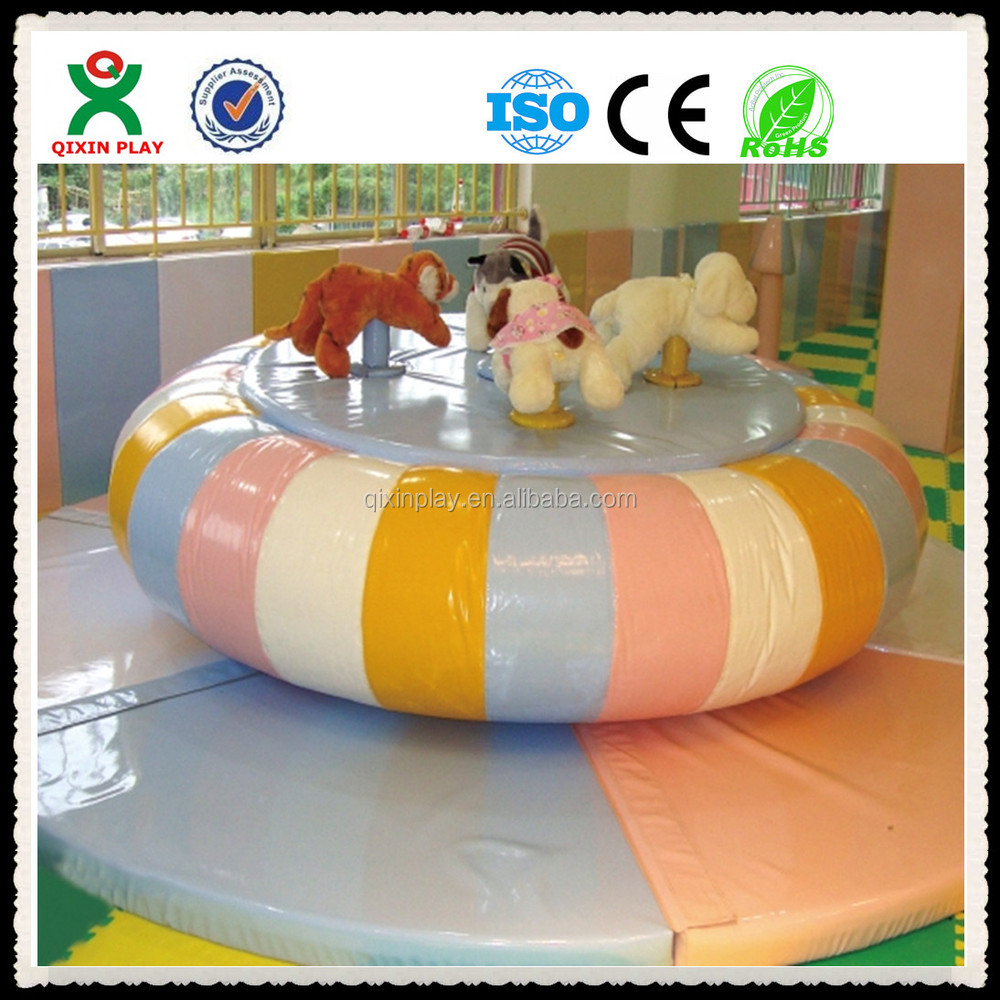children play area soft playground pony play equipment for sale(QX-103B)