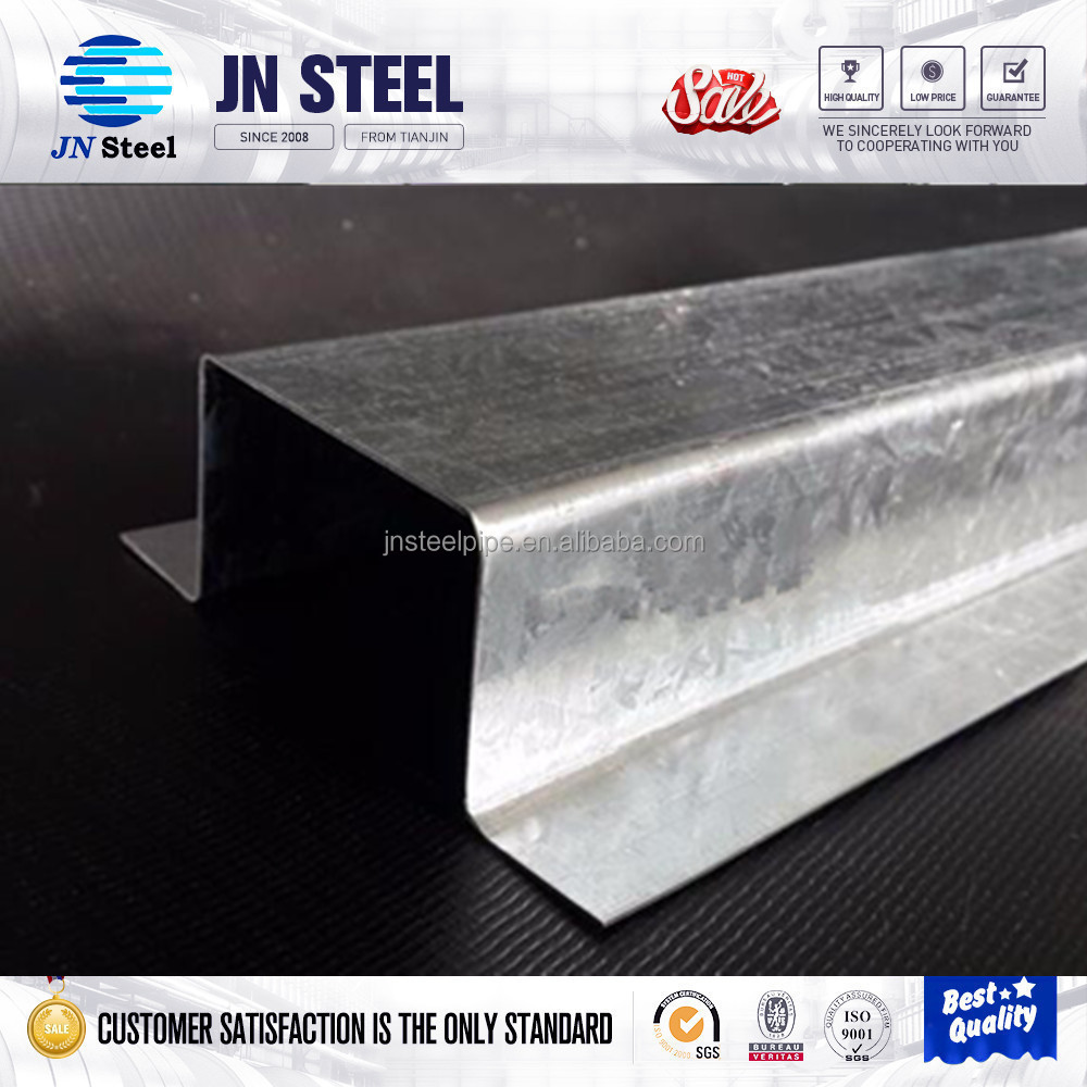 construction material cold formed size chart ceiling channel galvanized steel metal purlin/profile