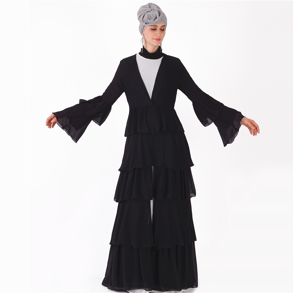 2019 casual comfortable chiffon Turkish abaya bu tang Banjul melayu kimono style maxi dress for sale open abaya