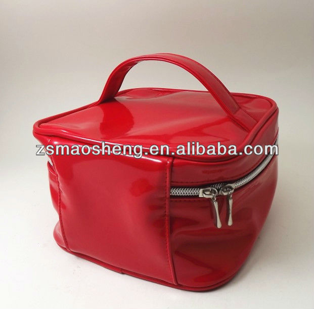 Red PU bag cosmetic