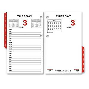 At-A-Glance(R) Recycled Desk Calendar Refill, With Tabs, 3 1/2in. x 6in.