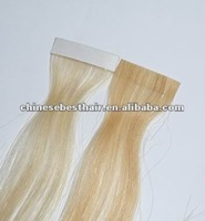 2012 PU hair / glue tape hair /100% virgin human hair extension