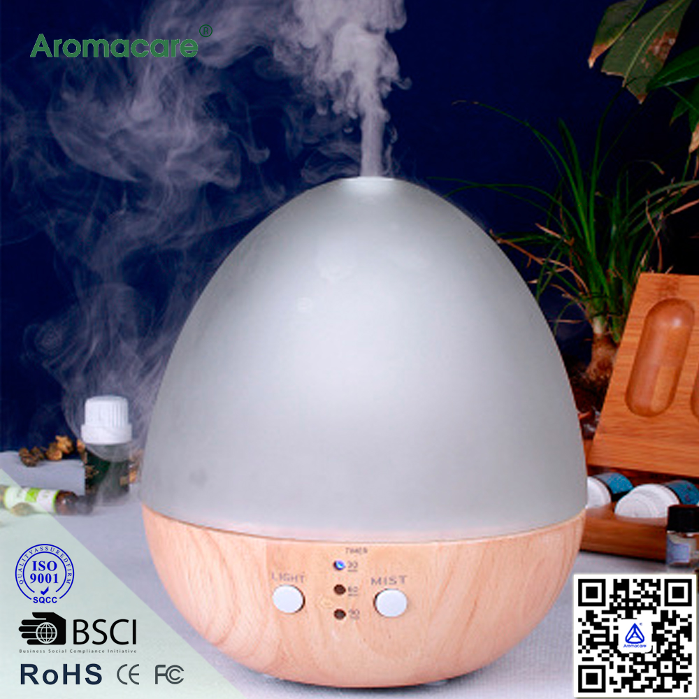 Aromacare Modern EGG Design Woodgrain Aromatherapy Nebulizer Essential Oil Diffuser