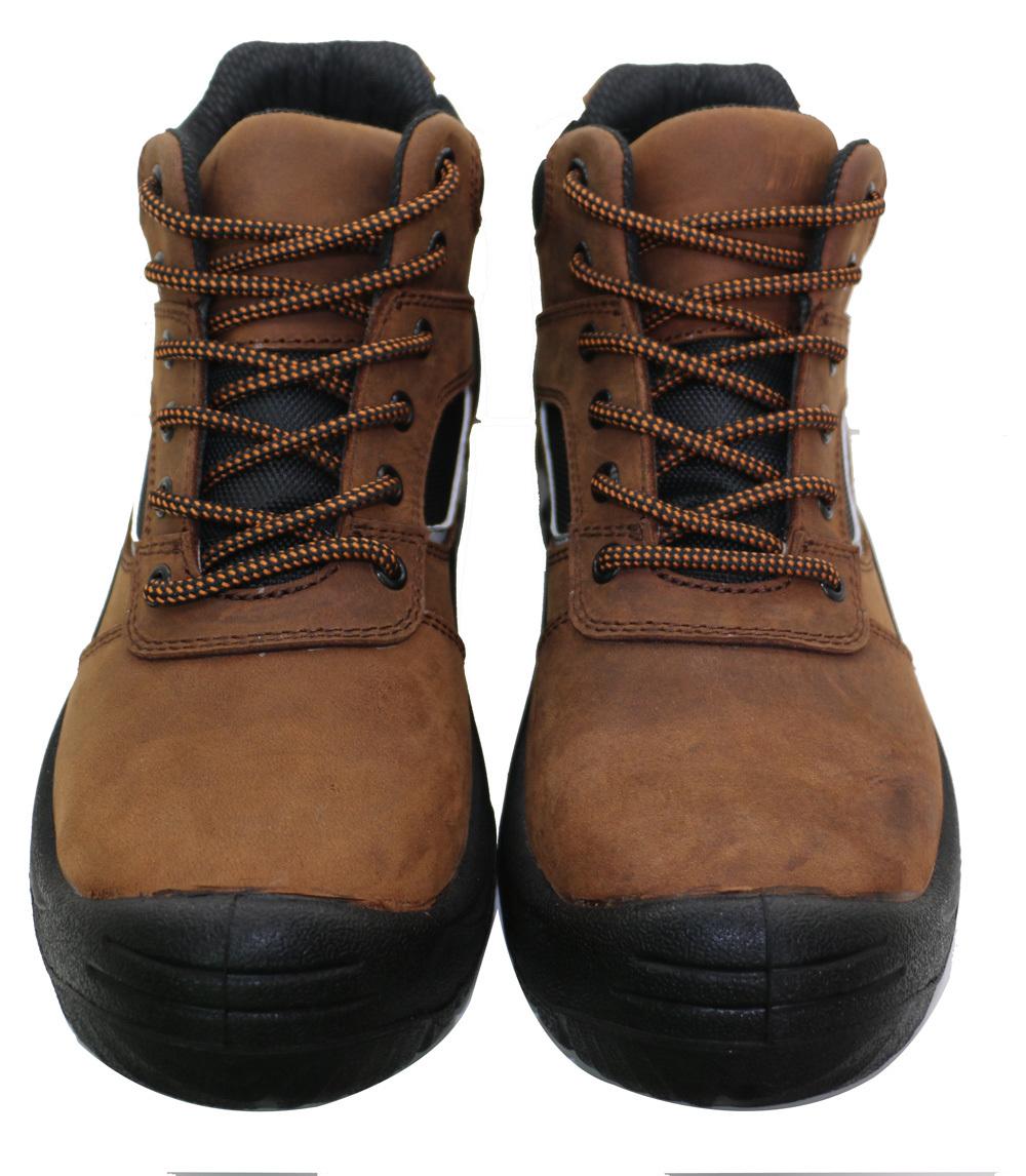 2016 New Dark Brown Woodland Safety Shoes