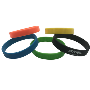 Colored cheap custom rubber watch band