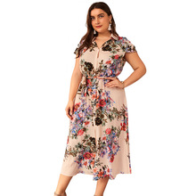 Zomer Mode Vrouwen <span class=keywords><strong>Jurk</strong></span> Print <span class=keywords><strong>Maxi</strong></span> <span class=keywords><strong>Jurk</strong></span> Office Lady Party Dress