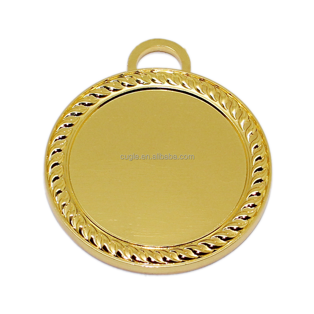 HAVE IN STOCK make your own logo blank zinc alloy metal medal for event