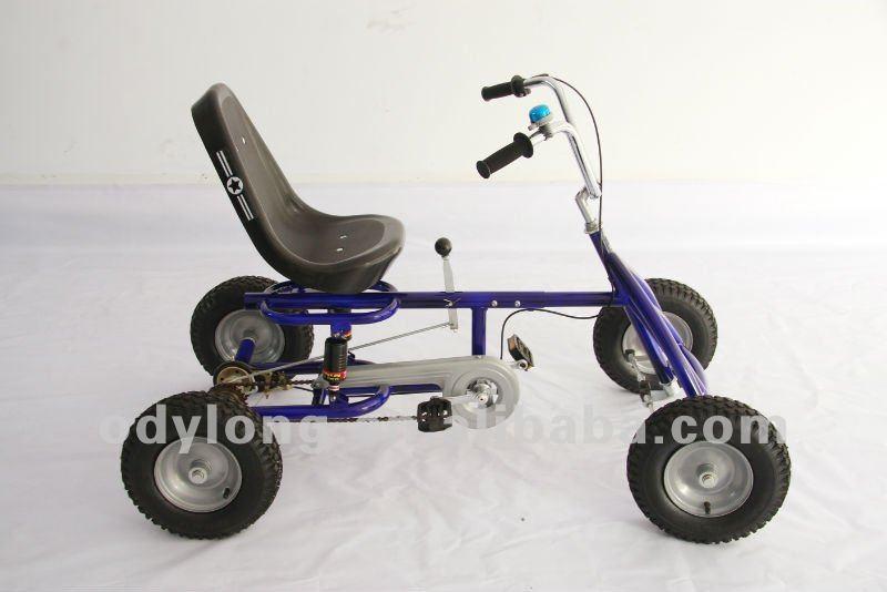 im freienpedal gehen kart das fahrrad mit 4 r dern super. Black Bedroom Furniture Sets. Home Design Ideas