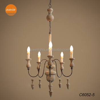 New classic american country style wood chandelier lighting rustic new classic american country style wood chandelier lighting rustic iron with jute rope pole pendant lamp aloadofball Images