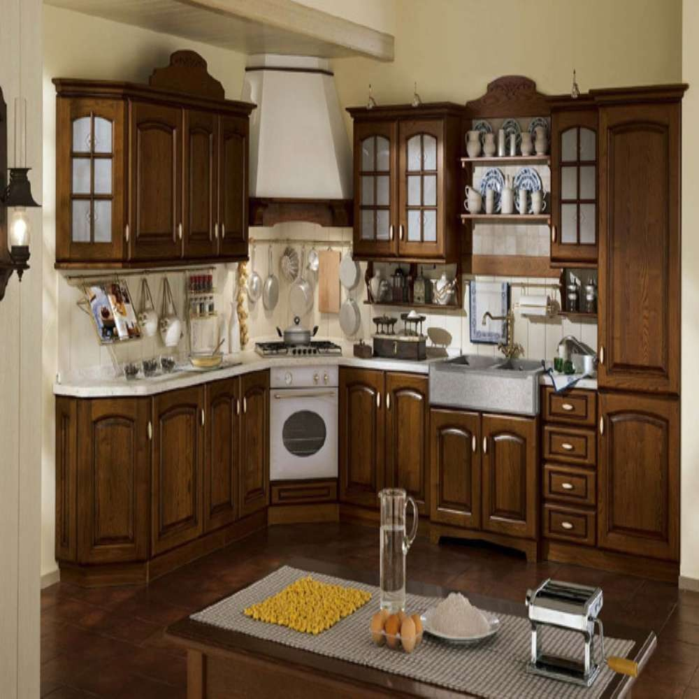 Solid Wood Cabinets Modular Kitchen Cabinets