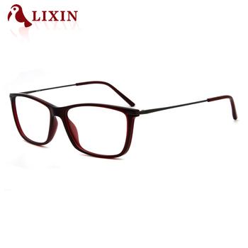 11b625b8e8 Rectangle Men Thin Acetate Eyeglasses Brand Design Student Glasses Frame