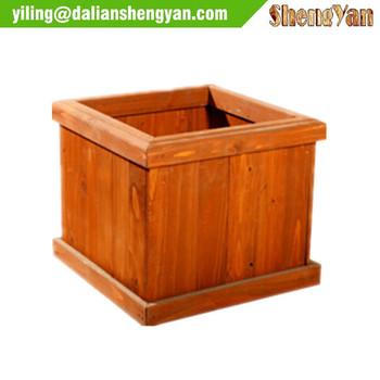 outdoor garden square wooden planter box wood flower box - Wood Planter Box