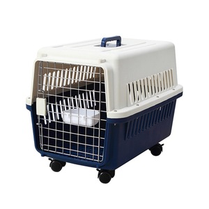 Cute Pet Carrier Box / Heated Animal Plastics Dog Carrier Cages