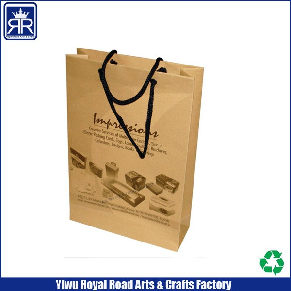 heavy weight stiff durable 100% recyclable standard paper bags