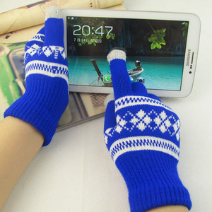 Women's Knitted Touch Screen Five Finger Gloves Soft Winter Gloves