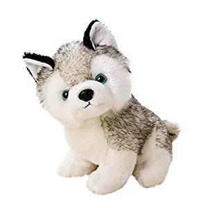 Cute Stuffed Husky Dog Plush Toy Dolls Baby Kids Pet Dog Play Toys Toddler Soft Plush Dog Toy,Boys Girls Birthday Gift Xmas Gift Set(S)
