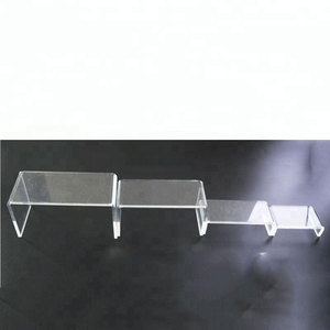 Wholesale Custom Acrylic Riser Display Clear Shoes Holder Acrylic Shoe Rack