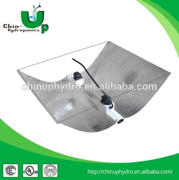 hydroponics double ended lamp reflector/ adjustable wing reflector with double ended socket/ air cooled reflector